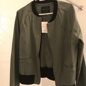 Sanctuary twill military bomber jacket NWT